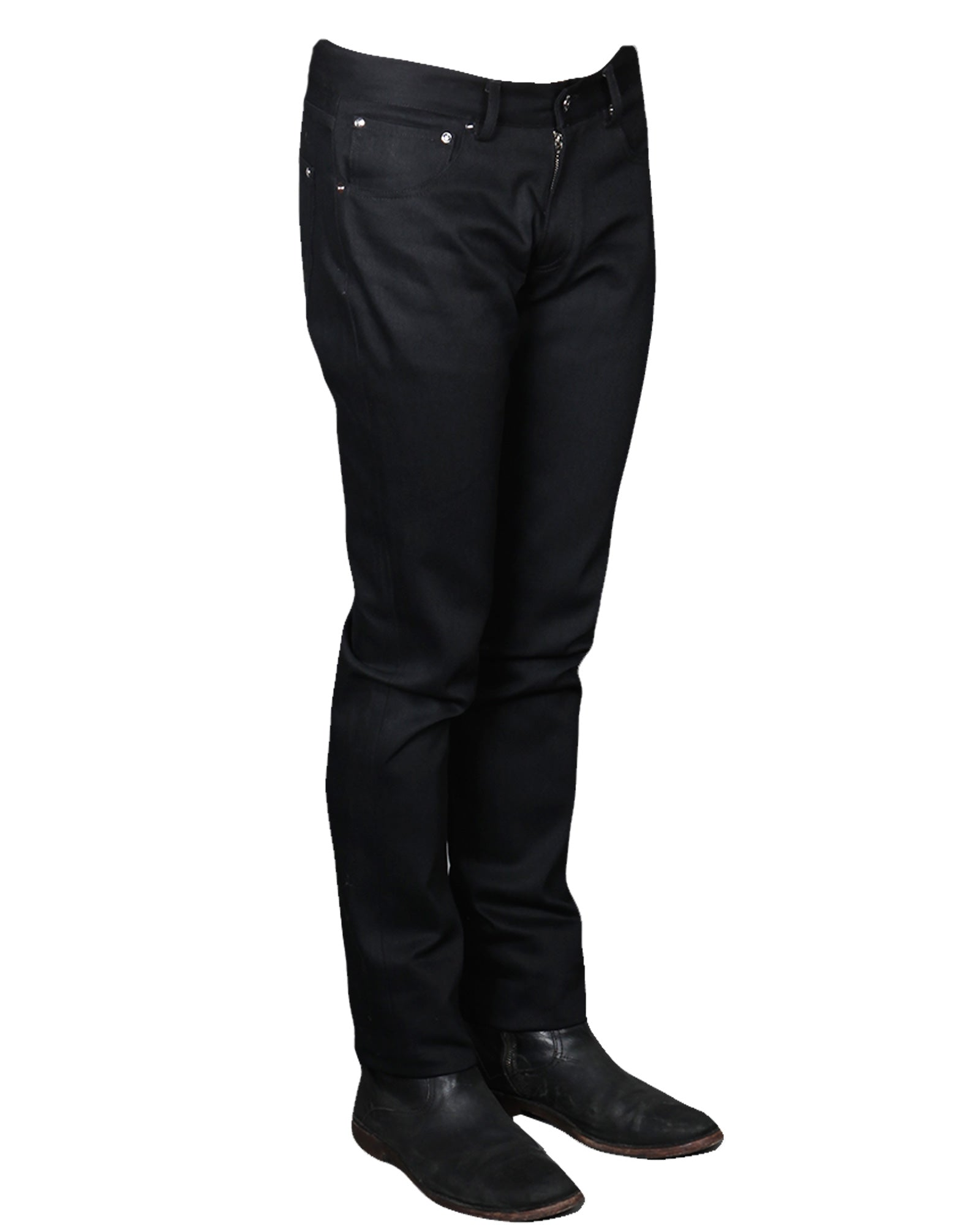 BILLY 19 // BLACK Men's Denim Jeans By Robert James
