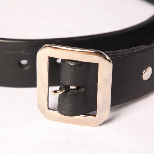 "BRJ X WILDT LEATHER BELT 1 1/2"" SQUARE BUCKLE BELT"