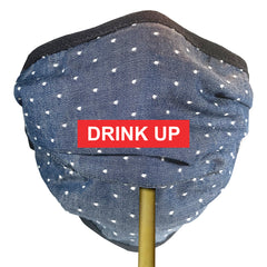 BRJ COTTON CHAMBRAY DOT Beverage / Cocktail Mask - 1 PC Face Mask