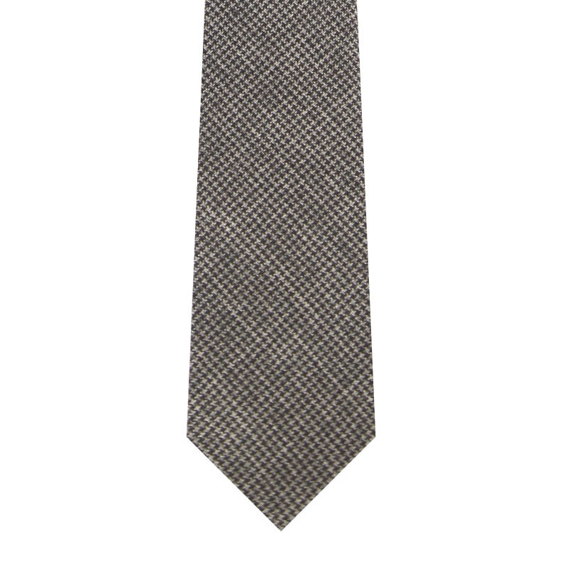 BRJ // CHARCOAL END ON END CHECK TIE Men's Ties By Robert James