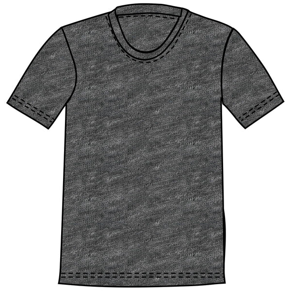 TK 19 - HEATHER CHARCOAL Men's Knit T-Shirt By Robert James
