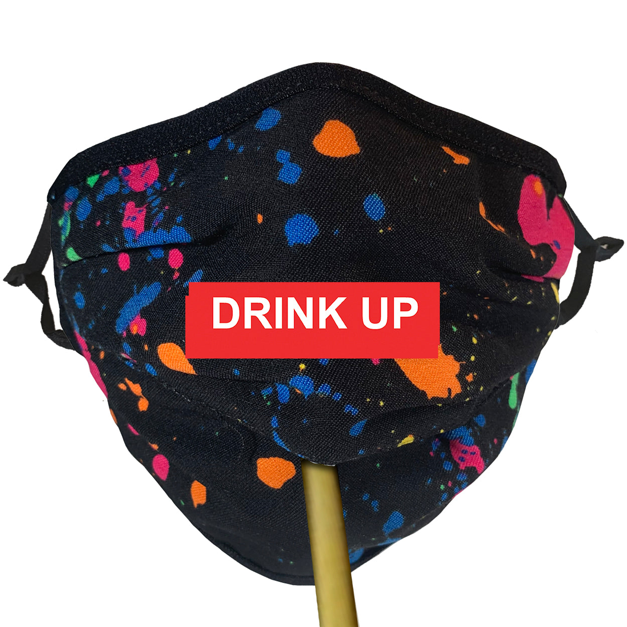 COTTON COLOR SPLATTER Beverage / Cocktail Mask - 1 PC Face Mask