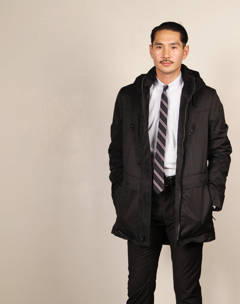 X 11 LT DUFFLE COAT // BLACK Men's Duffle Coat By Robert James