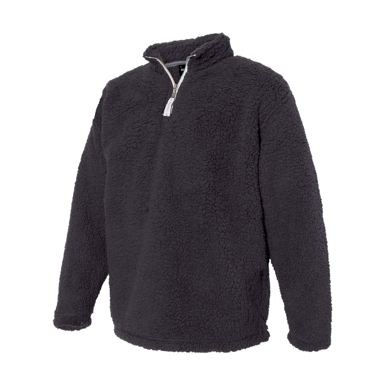 MOONWALKER SHERPA  // BLACK Sherpa Zip Pull Over