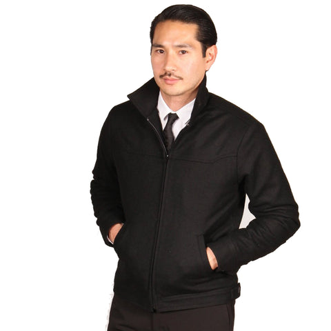 GRAND WORK JACKET // BLACK WOOL Men