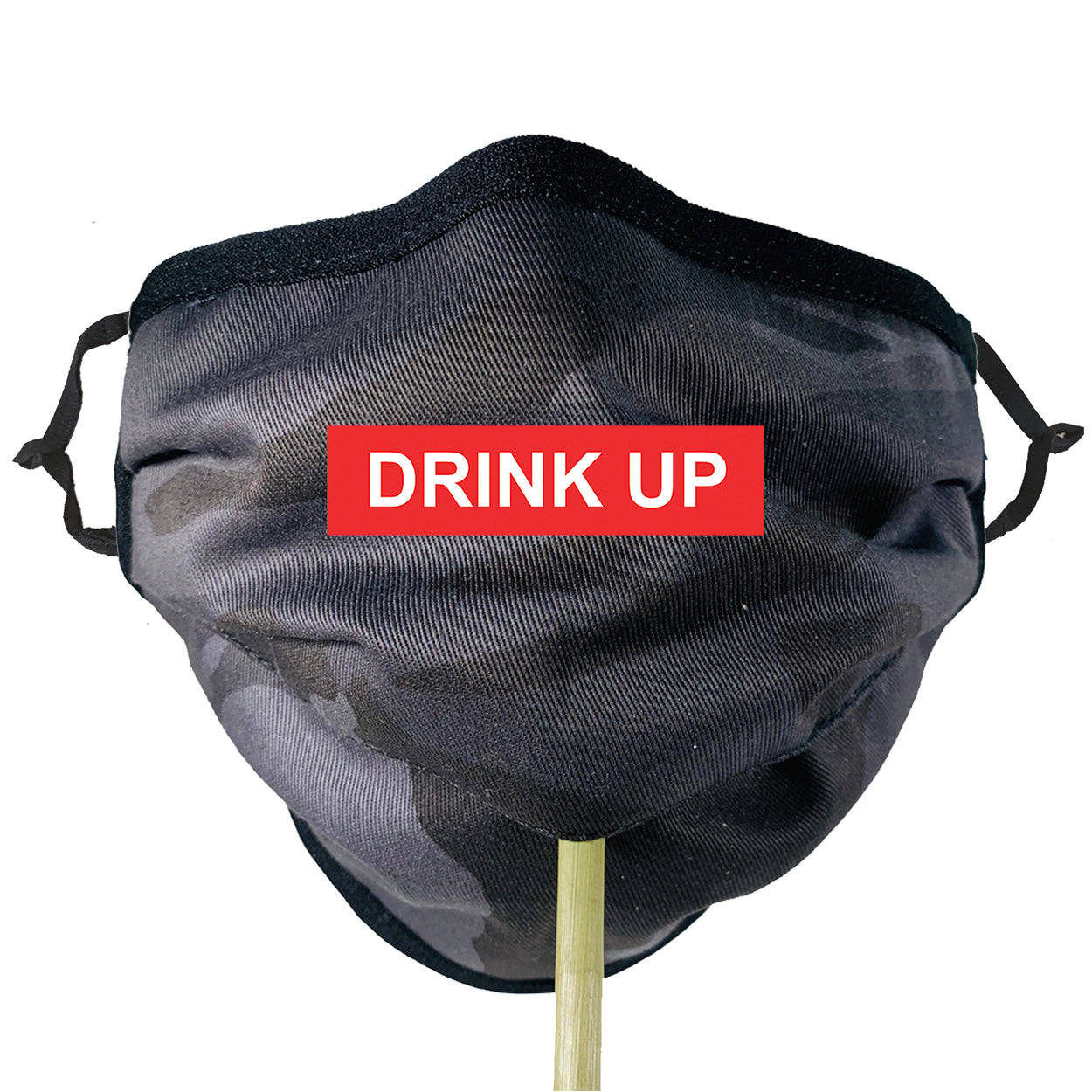 GREY CAMO Beverage / Cocktail Mask - 1 PC Face Mask