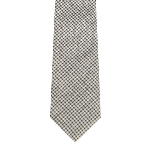 BRJ //GREY HOUNDSTOOTH TIE Men's Ties By Robert James