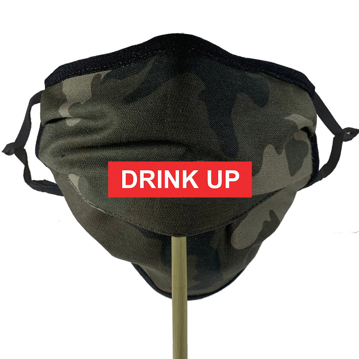 COTTON OLIVE CAMO Beverage / Cocktail Mask - 1 PC Face Mask