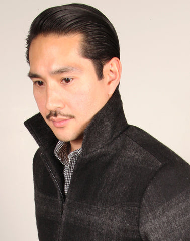 GRAND WORK JACKET  // CHARCOAL PLAID Men's Jacket By Robert James