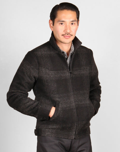 GRAND WORK JACKET FA18 // CHARCOAL PLAID Men's Jacket By Robert James