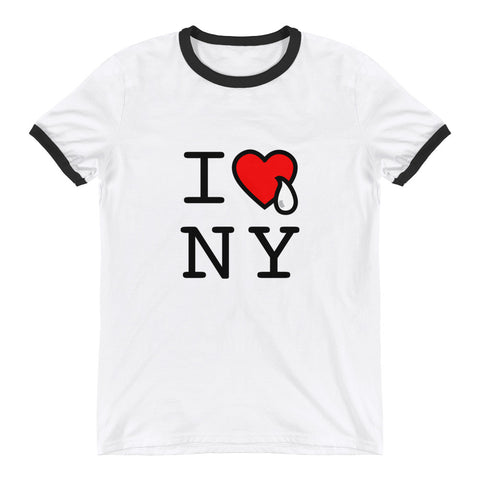 I HEART & TEAR NY /.  Ringer T-Shirt