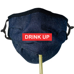 BRJ INDGO COTTON DENIM Beverage / Cocktail Mask - 1 PC Face Mask