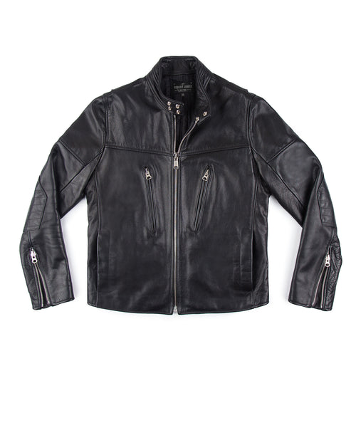 LEONARD ANDRES LEATHER JACKET //  BLACK