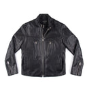 LEONARD ANDRES LEATHER JACKET -  BLACK