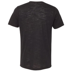 THE MAX SLUB TEE - Black Slub Men's Knit T-Shirt By Robert James