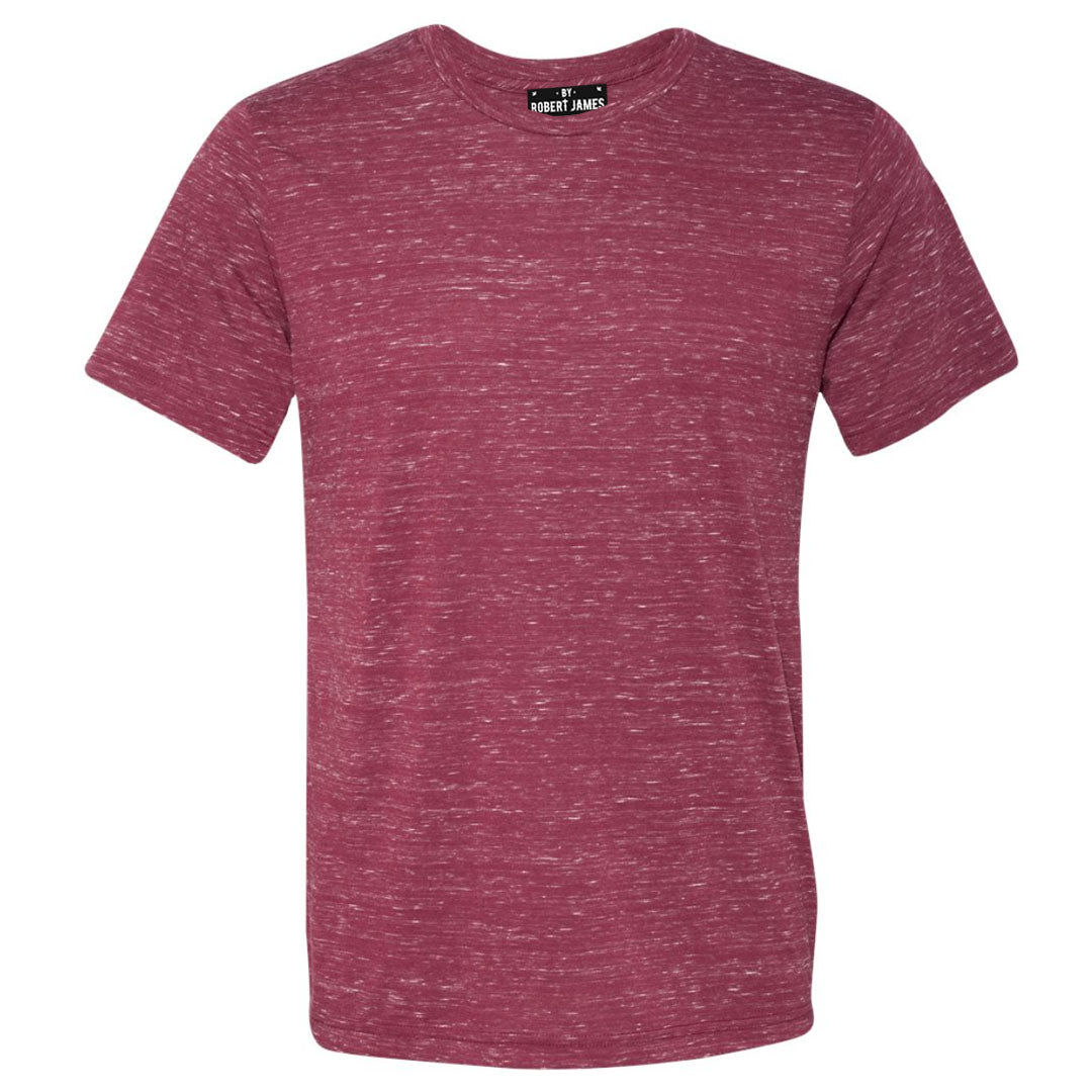 THE MAX FLECK TEE - Red White  Marble Men's Knit T-Shirt By Robert James