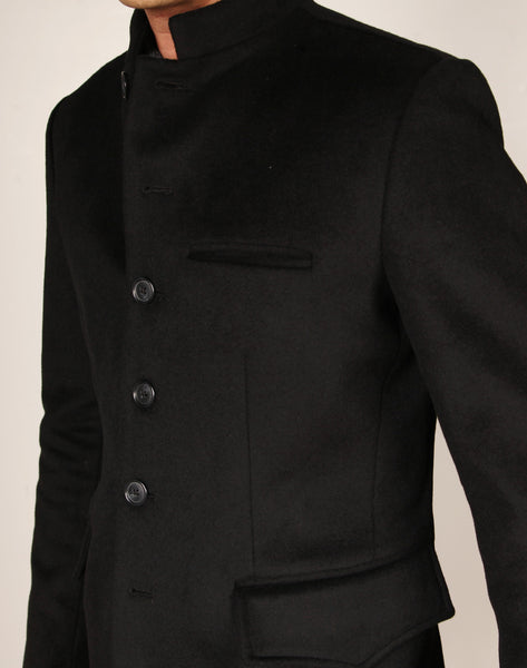 LIMITED EDITION // MICK FA18 // BLACK WOOL Men's Sport Coat By Robert James