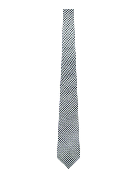 BRJ // LT BLUE HOUNDSTOOTH TIE Men's Ties By Robert James