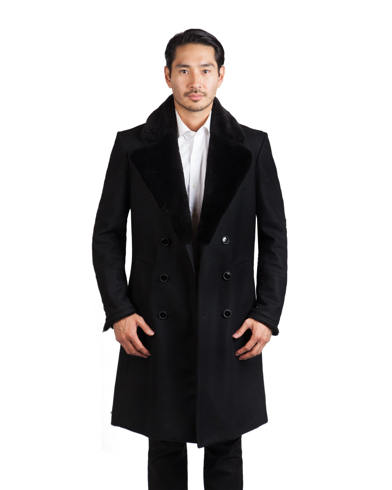 NORWHAL WOOL OVERCOAT // BLACK