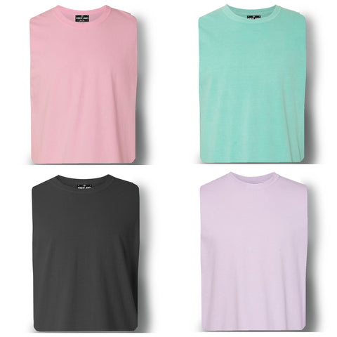 4 PACK PIGMENT DYED KNITS - 3 TEE'S & A LONG SLEEVE  Men's Knit T-Shirt By Robert James