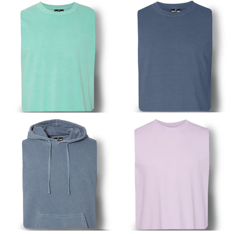 4 PACK PIGMENT DYED KNITS -COSTAL CLASSICS  Men's Knit T-Shirt By Robert James