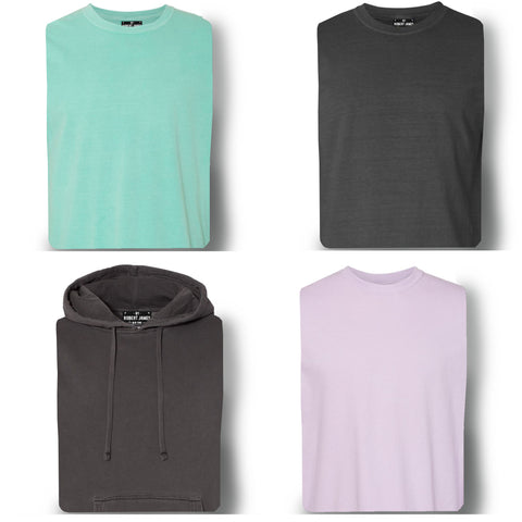 4 PACK PIGMENT DYED KNITS - ROBERTS PICKS  Men's Knit T-Shirt By Robert James