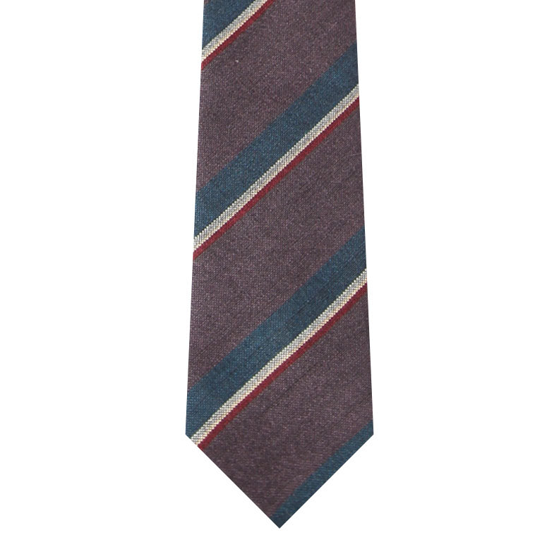 BRJ // BURGUNDY/NAVY STRIPE TIE Men's Ties By Robert James
