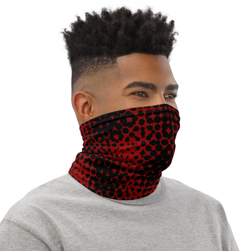 PSYCHEDELIC GEO RED / Neck Gaiter