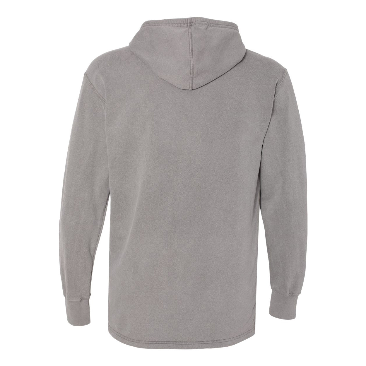 RHINO PIGMENT DYED HEAVY JERSEY SUBA HOODIE - GRANITE GREY  Men's Knit By Robert James
