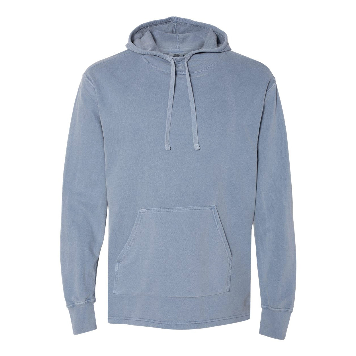 RHINO PIGMENT DYED HEAVY JERSEY SUBA HOODIE - WASHED DENIM  Men's Knit By Robert James