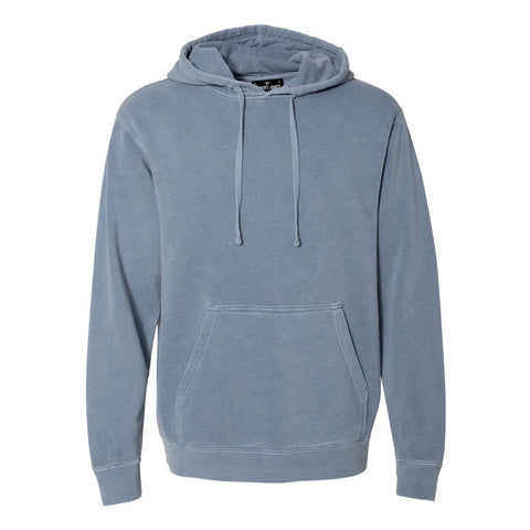 THE SHOVEL HEAD PIGMENT DYED PULL OVER HOODIE - WASHED INDIGO Men's Knit T-Shirt By Robert James