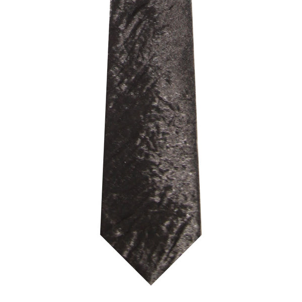 BRJ // BLACK CRINKLE TIE Men's Ties By Robert James