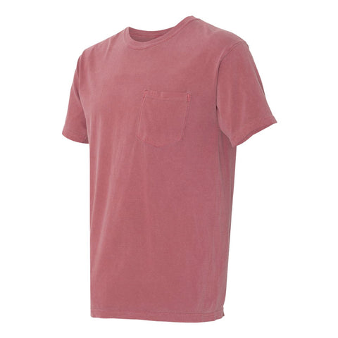 DAGGERS PIGMENT DYED POCKET TEE - ENGINE RED Men's Knit T-Shirt By Robert James