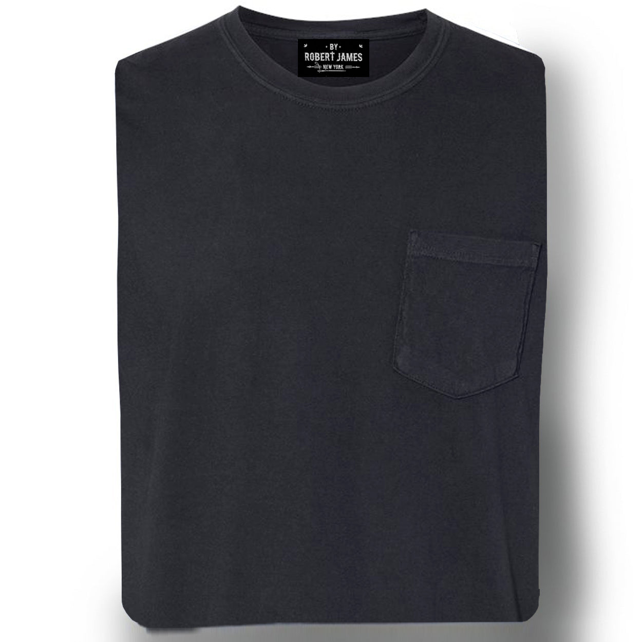 DAGGERS PIGMENT DYED POCKET TEE - WASHED BLACK Men's Knit T-Shirt By Robert James