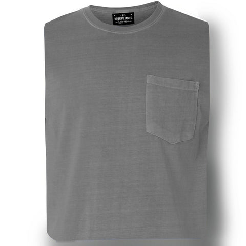 DAGGERS PIGMENT DYED POCKET TEE - GRANITE GRAY Men's Knit T-Shirt By Robert James