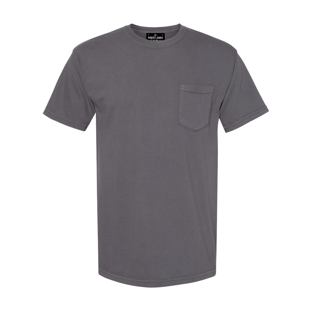 DAGGERS PIGMENT DYED POCKET TEE - GREASE RAG GRAY Men's Knit T-Shirt By Robert James