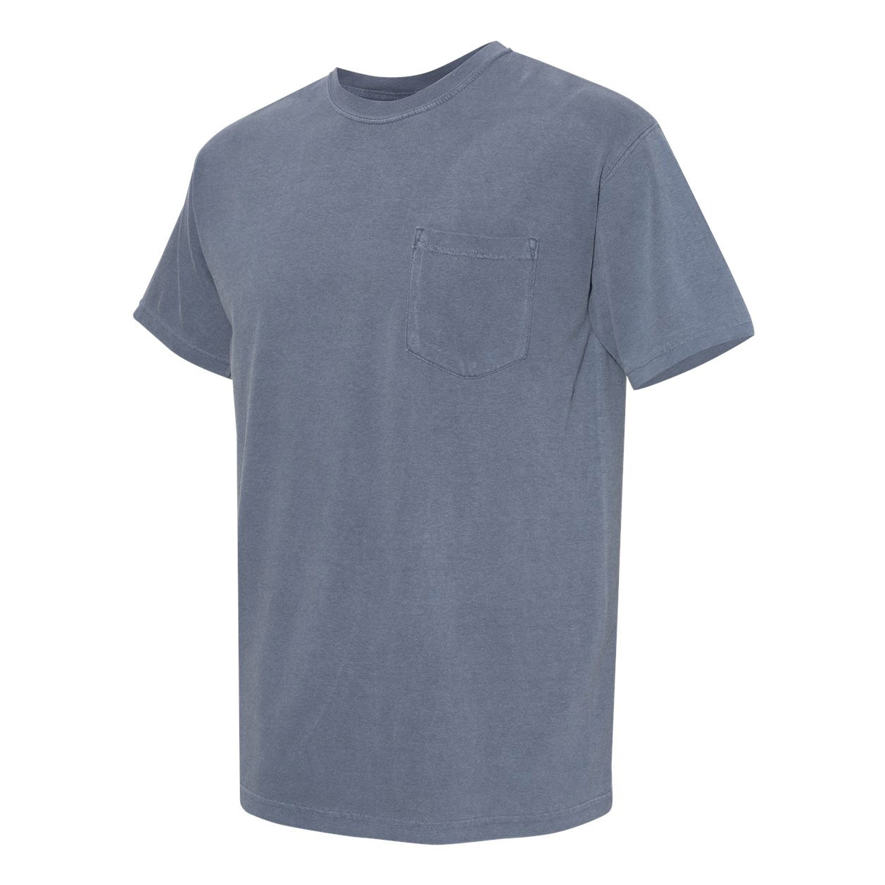 DAGGERS PIGMENT DYED POCKET TEE - WASHED INDIGO Men's Knit T-Shirt By Robert James
