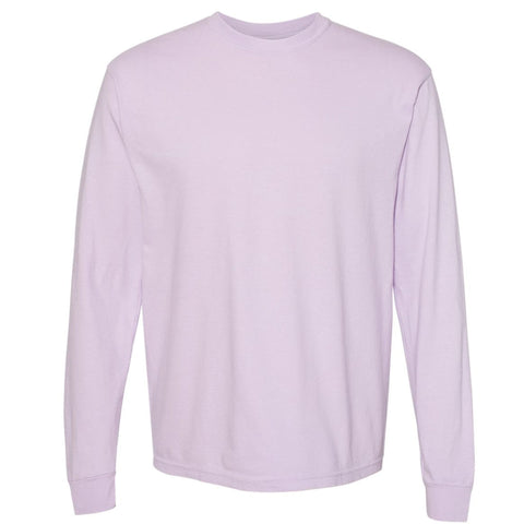 THE BUCK LONG SLEEVE PIGMENT DYED TEE - LAVENDER  Men's Knit T-Shirt By Robert James