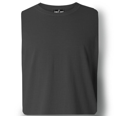 THE BUCK LONG SLEEVE PIGMENT DYED TEE - washed black  Men's Knit T-Shirt By Robert James