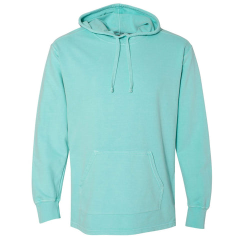 THE RHINO PIGMENT DYED HEAVY JERSEY PULL OVER HOODIE - Sorbet Blue Men's Knit T-Shirt
