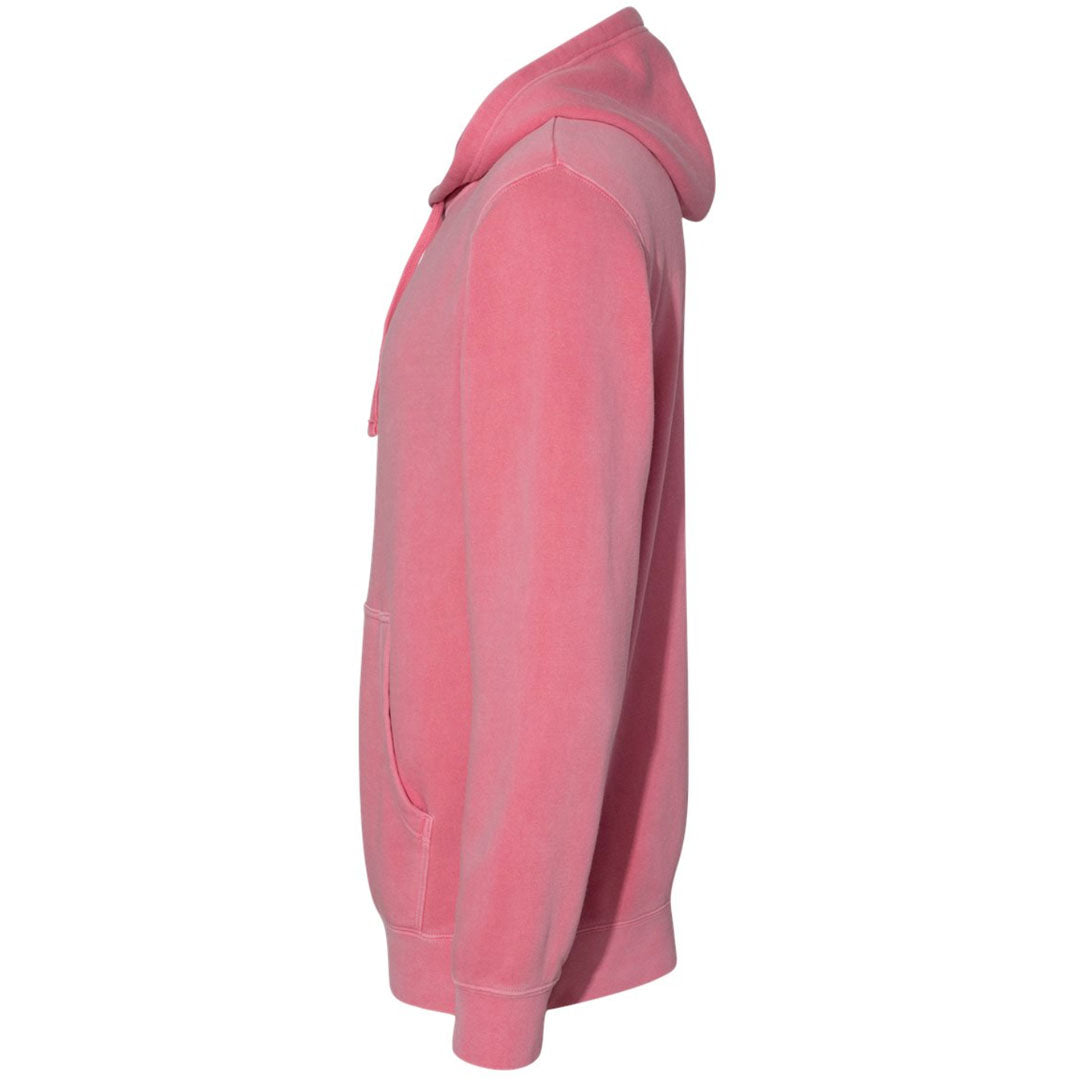 THE CLIFFORD PIGMENT DYED PULL OVER HOODIE - FLAMINGO PINK Men's Knit T-Shirt By Robert James