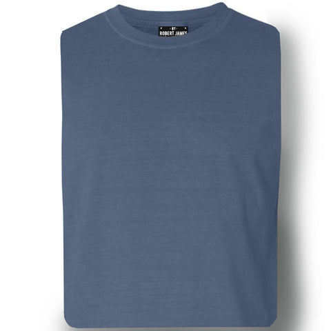 3 PACK PIGMENT DYED KNITS -   BLACK & BLUES  Men's Knit T-Shirt By Robert James