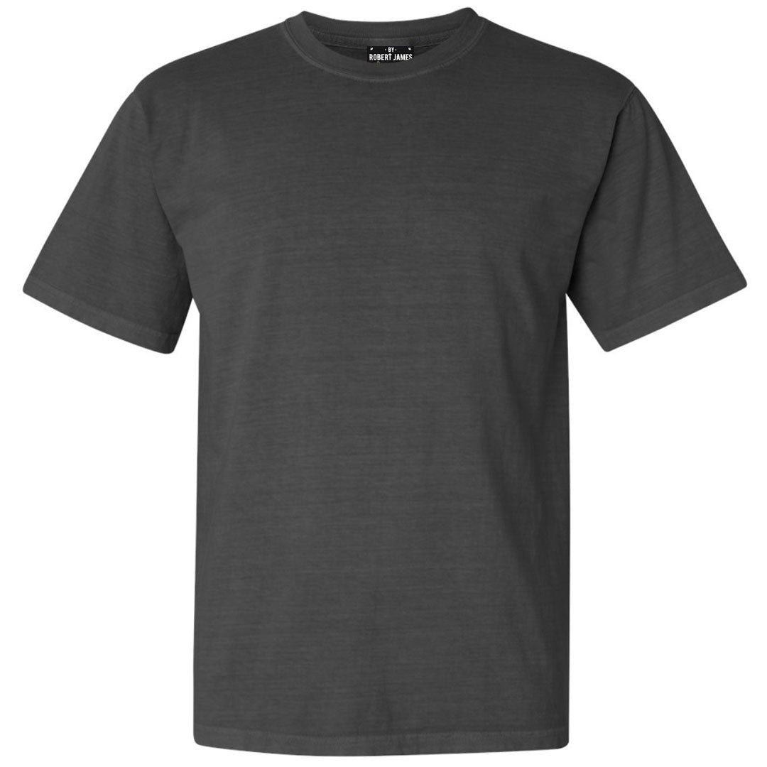 THE RULLOW PIGMENT DYED TEE - WASHED BLACK Men's Knit T-Shirt By Robert James
