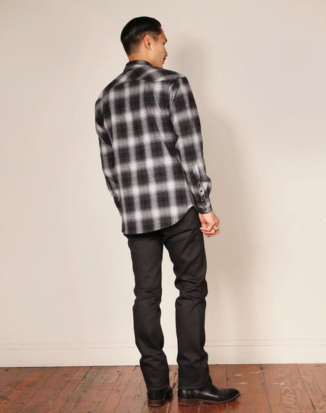 WESTERN 19 // BLACK Men's Denim Jeans By Robert James