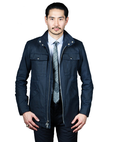 WAX 65 // NAVY WAX Men's Jacket By Robert James