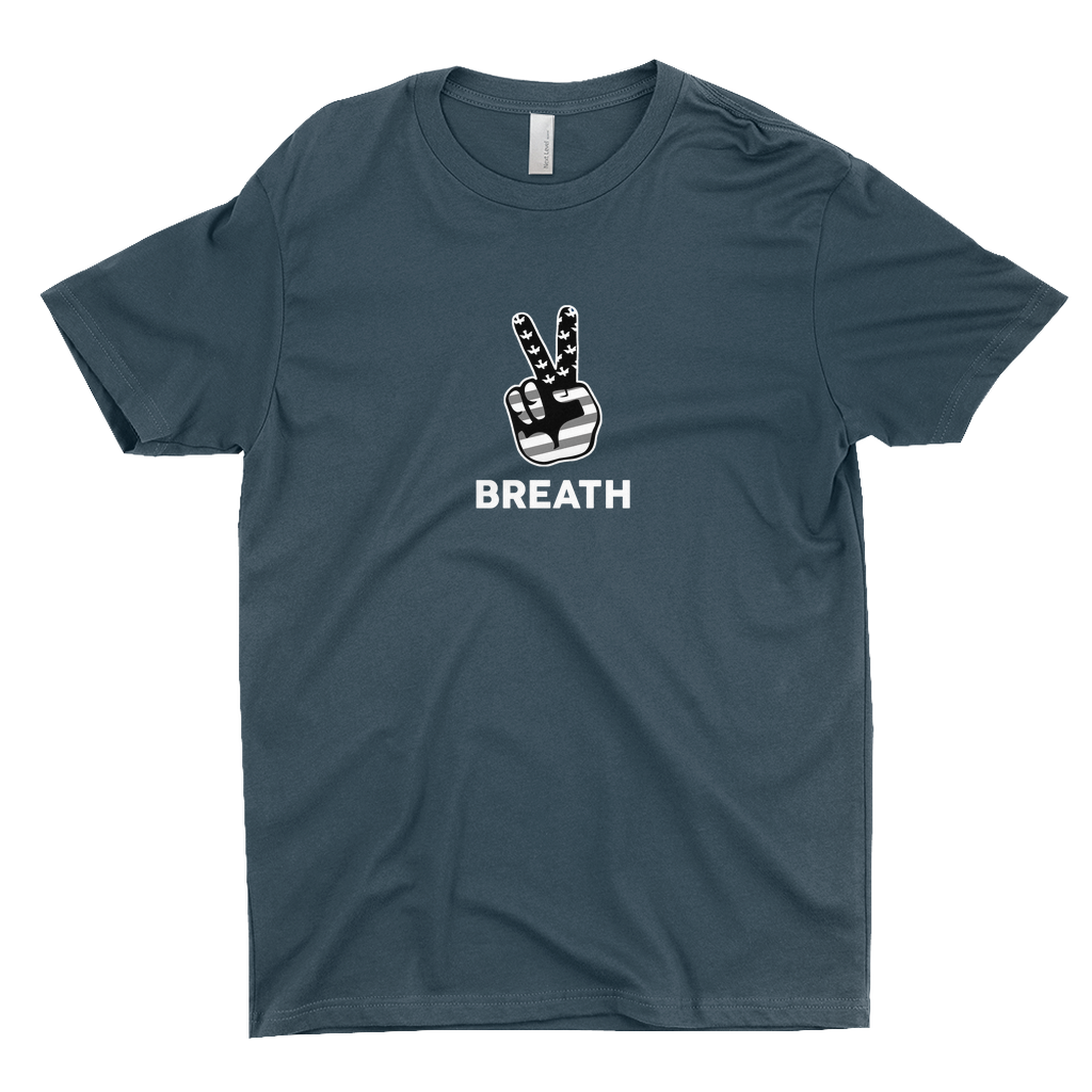 BREATH PEACE BLACK & WHITE /.  T-Shirts