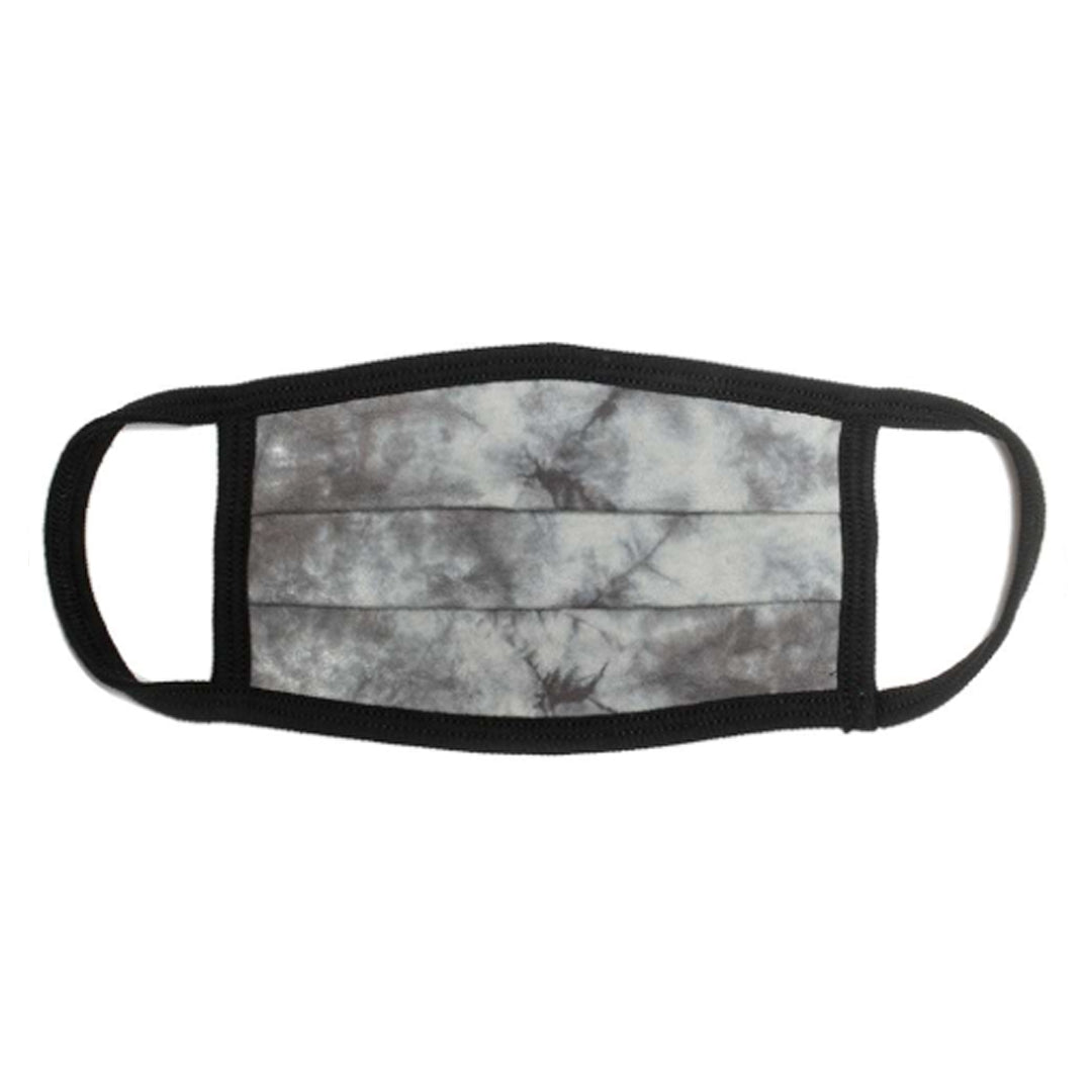 USA MADE Comfort Cotton / Face Mask - GREY TIE DYE