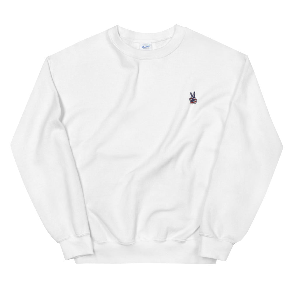 PEACE OUT EMBROIDERY / Unisex Sweatshirt