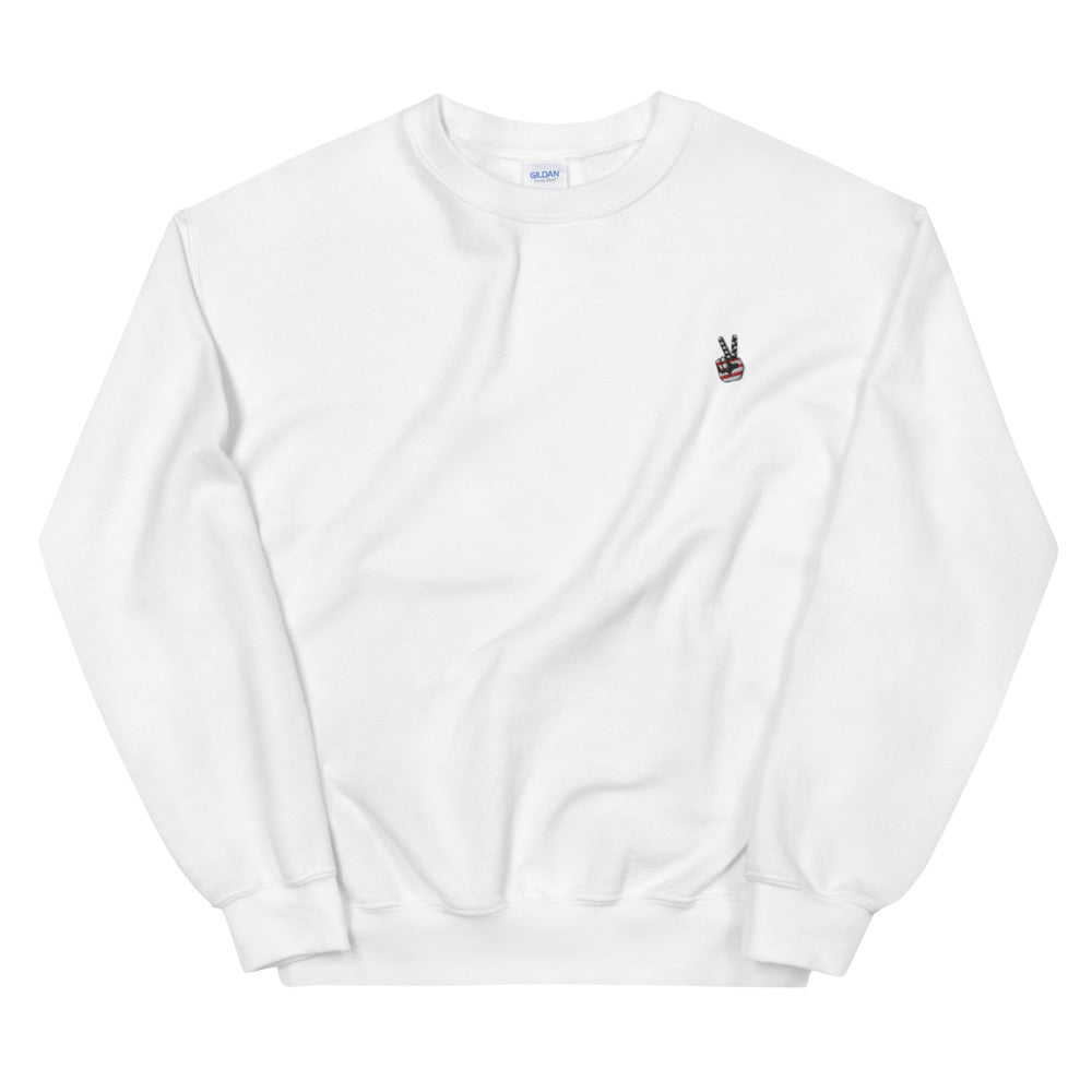 BRJ PEACE OUT BLACK ./ Med Weight Sweatshirt