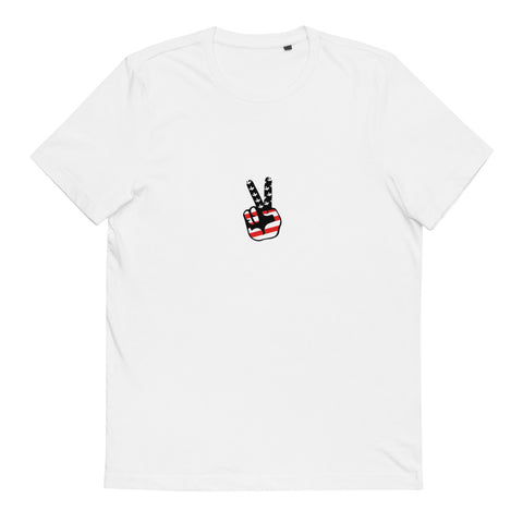 BRJ PEACE OUT BLACK / Organic Cotton T-Shirt